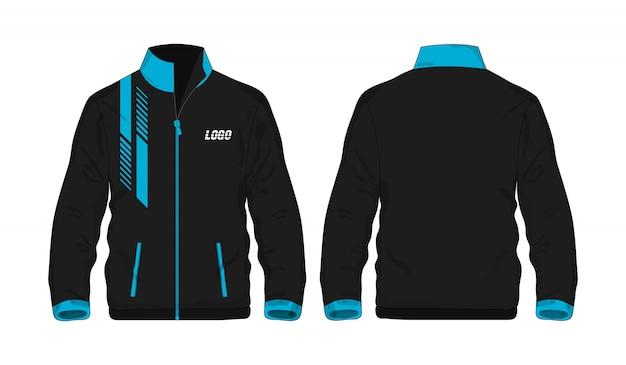 Jaqueta esporte azul e preto ilustração t