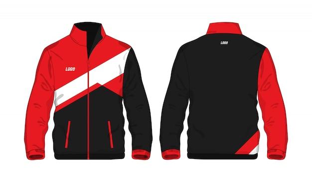 Jaqueta esporte vermelho e preto ilustração