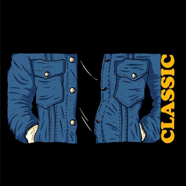 Jaqueta jeans estilo clássico