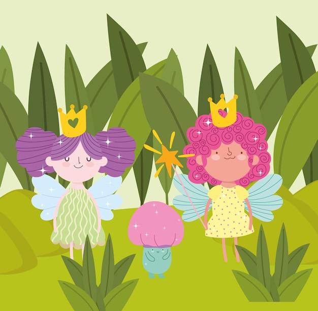 Jardim com varinhas mágicas fofas