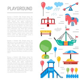 Jardim de infância de parque infantil