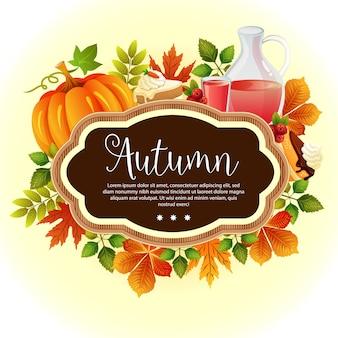 Jardim, folhas, modelo, ação graças, outono