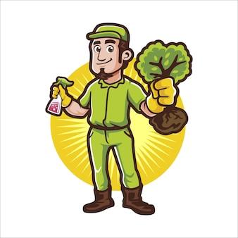Jardineiro de desenhos animados