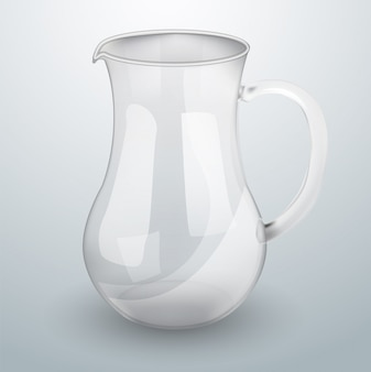 Jarra de vidro para água ou suco.