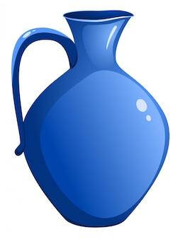 Jarro de cerâmica azul