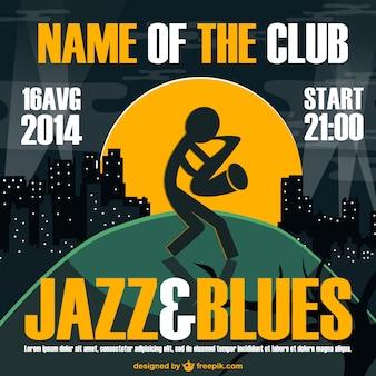 Jazz e blues cartaz vetor