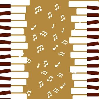 Jazz festival piano jogar música quaver vector illustration