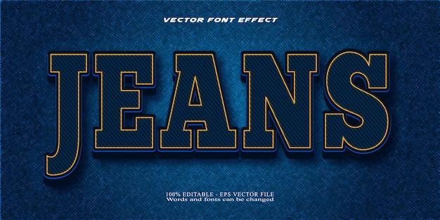 Jeans com efeito de texto editável