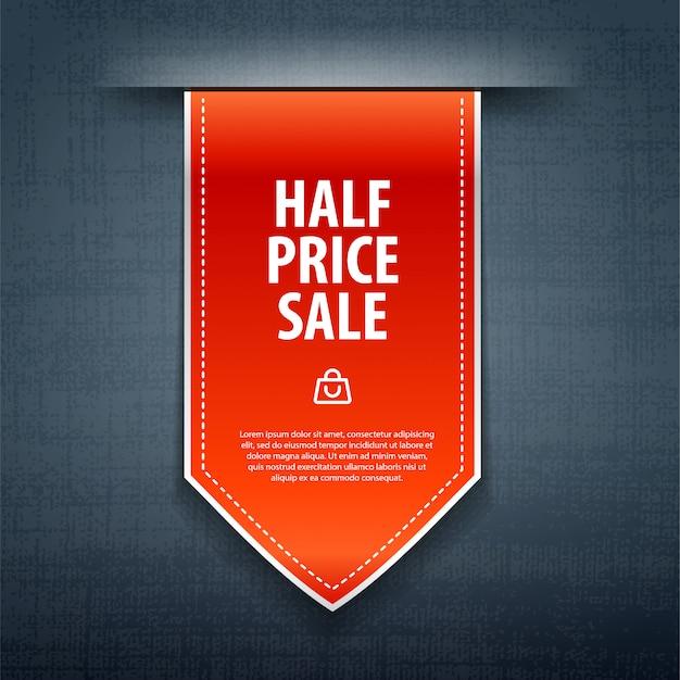 Jeans de venda de metade do preço