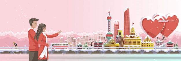 Jeonju é marcos de viagem de fundo de banner de china