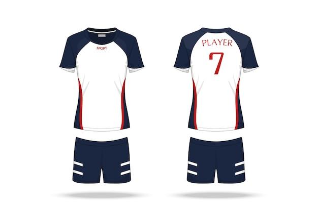 Jersey de voleibol de especificação isolado no fundo branco