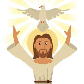 Jesus cristo espírito sagrado símbolo religioso