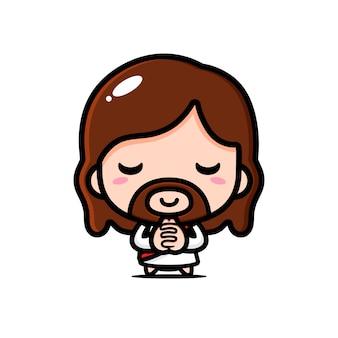 Jesus cristo está orando