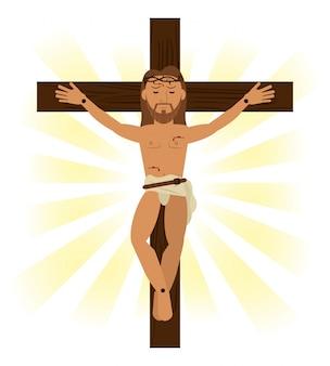 Jesus cristo, símbolo religioso crucificado