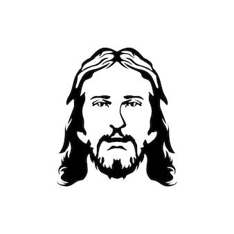 Jesus face silhouette homens maduros rostos bigode barba e longa
