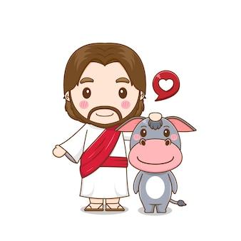 Jesus fofo e burro