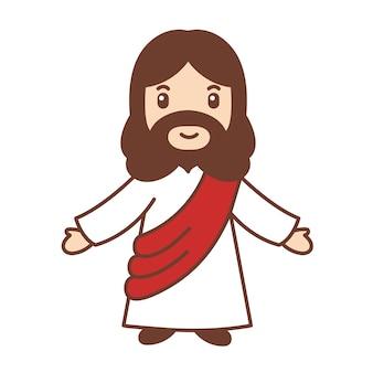 Jesus levantou as duas mãos.