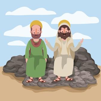 Jesus o nazareno e bartolomeu na cena
