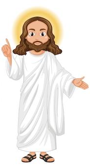 Jesus pregando em pé personagem