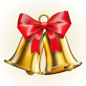 Jingle bells com laço vermelho