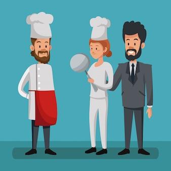 Jobs e profissões cartoons