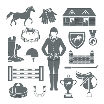 Jockey icons preto