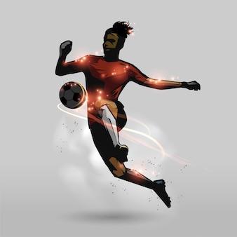 Joelhos de futebol tocar