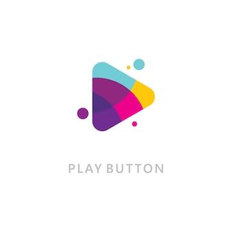 Joga o ícone do logotipo de vetor. modelo de design de ícone de vídeo. reprodutor de música