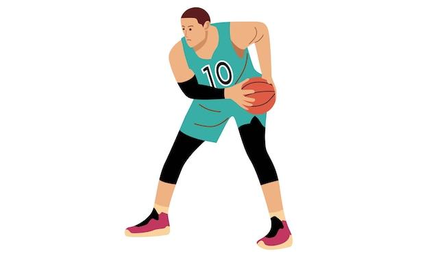 Jogador de basquete. conceito de esportes