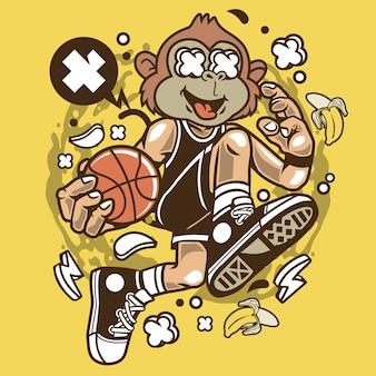 Jogador de basquete de macaco