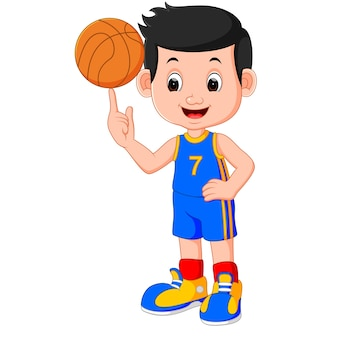 Jogador de basquete menino