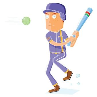Jogador de beisebol em ação