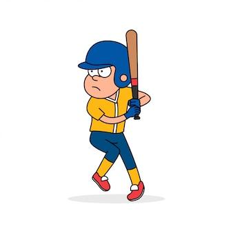 Jogador de beisebol pronto para atacar