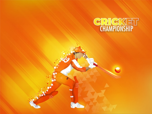 Jogador de críquete em ação de jogar