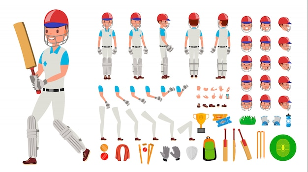 Jogador de críquete masculino