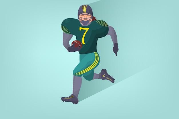 Jogador de futebol americano em quadrinhos