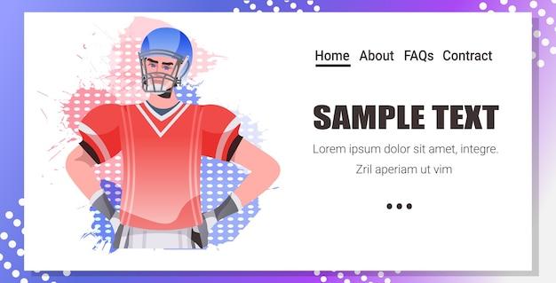 Jogador de futebol americano segurando a bandeira dos eua e capacete feliz dia do trabalho