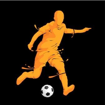 Jogador de futebol correndo