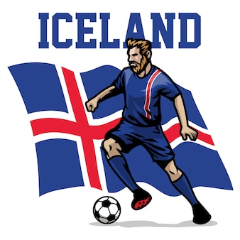 Jogador de futebol da islândia