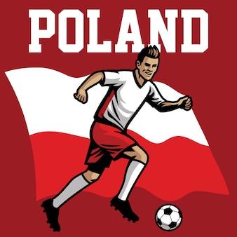 Jogador de futebol da polônia