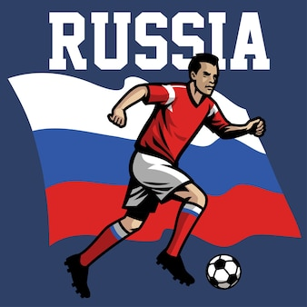 Jogador de futebol da rússia