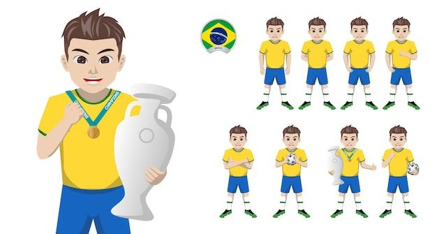 Jogador de futebol da seleção brasileira