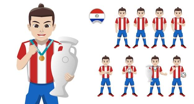 Jogador de futebol da seleção paraguaia