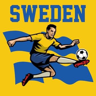 Jogador de futebol da suécia