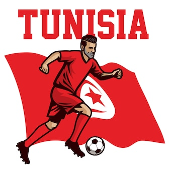 Jogador de futebol da tunísia
