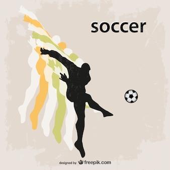 Jogador de futebol de futebol da silhueta