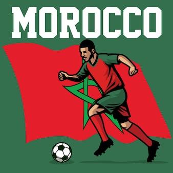 Jogador de futebol de marrocos