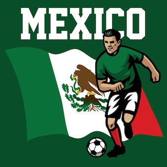 Jogador de futebol do méxico
