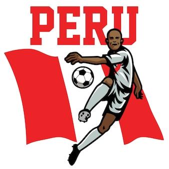 Jogador de futebol do peru