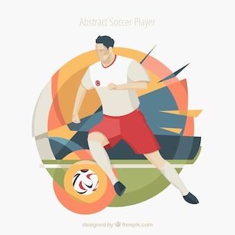 Jogador de futebol em estilo abstrato
